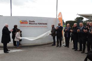 Inauguration stade intercommunal Maurice Fontaine à Aigues-Mortes