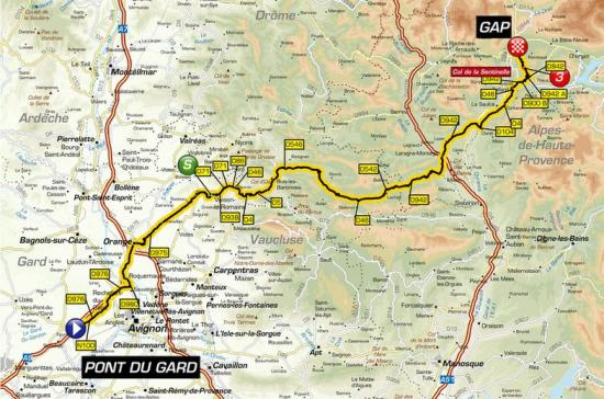 Etape Tour de France 2019 Pont du Gard - Gap